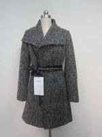 2015 windproof 10%wool+85%polyester+5%other wool fabric woman russian winter long woolen coat