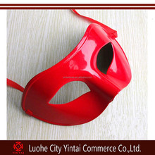 plastic party mask Red Plastic Halloween Party Face Mask