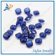 wholesale blue color square shape large glass gems in bulk