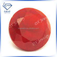 red glass Round rough cut gems price glass stone jewelry