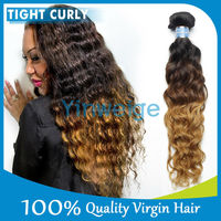 Virgin Cheap Ombre Hair Extension Jerry Curl Weave Extensions Human Hair