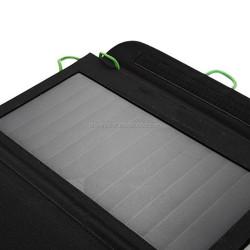 High Effi. 7W sunpower folding solar panel 5v usb solar phone charger for hiking/camping 7w