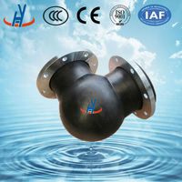 Easy to fix and maintain 90 degree flexible rubber elbow
