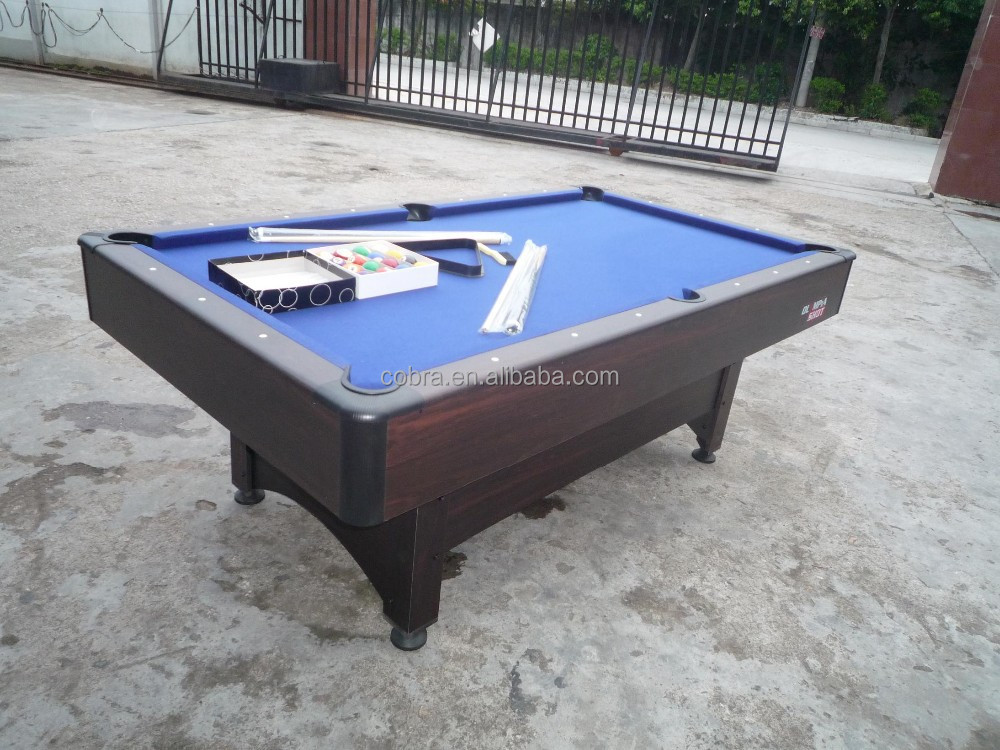 Kbl 08a1 high end pool table with plastic or metal corner for Expensive pool tables