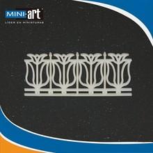"railings fence for garden model ""F"" scale 1:200"