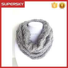 V-427 Women's thick knit pattern winter warm chunky scarf crochet circle Infinity knitting loop scarf