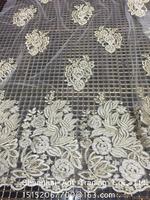 Wedding dress embroidery lace fabrics