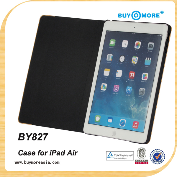 High Quality with Sleep and Wake Up Function Wood Leather Case for ipad air 2 wood case
