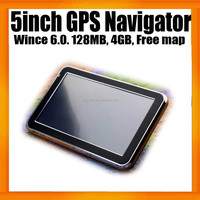 "China best 5"" Car Mediatek Navigation GPS SAT NAV With 4GB memory"