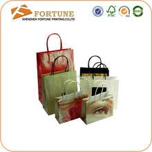 Garment Industry Use and Offset Printing Surface Handling Bown Kraft Paper Shopping Bag