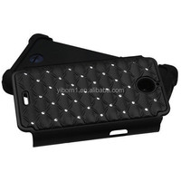 Mobile Phone PC+Silicone With Studded Diamond Protective Case For HUAWEI Valiant Y301 H881c