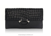 the latest Customized noble women bag elegant PU ladies clutch bag