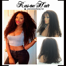 Full Lace Wig Type Afro Kinky Human Hair Wig Long Hair Sex Women China Wig Supplier