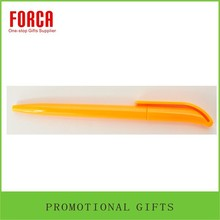 Hot Sale Pure Color Orange Promotional Plastic Ballpoint Pen With Logo