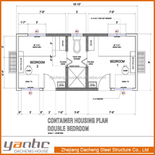 Prefabricate EPS/PU Sandwich Panel Container 2 bedrooms house