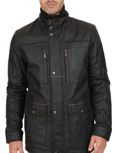 Latest Design Gents High Quality Winter Fashion Leather Long coat Price Pakistan