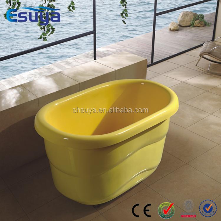 baby bath tub small freestanding color roll top classical bathtub