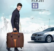 New items travel universal wheel three layers shipping package / foldable luggage bag