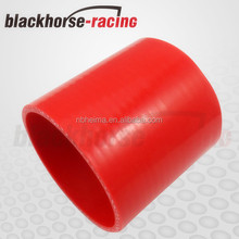 """High Temperature Mouse over image to zoom 1-3/16"""" inch 30mm Straight Silicone Coupler Hose Pipe Black & Red"""