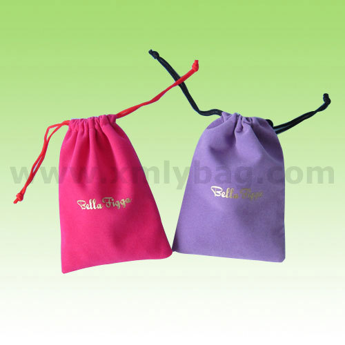 High-end Pink Velvet Gift Bag Wholesale