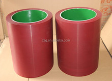 10 inch epdm rice hulller rubber roller, hot red rubber mill