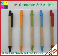 Top sellers logo printed Eco pen, Click ball pen eco paper pen