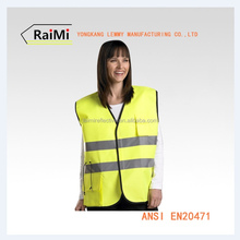 with pockets roadway high visibility motorcycle or running wholesale safety reflective vest