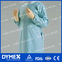 Nonwoven Operation Sterilized Clothes medical surgical gown with sleeve white surgical gown with cap
