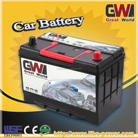 High quality 55D23R car battery 12v 60ah mf car battery 6-qw-60 car battery