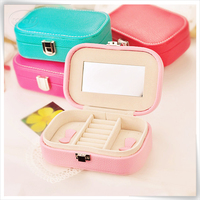 handmade pu leather concealed hing jewellery box designs