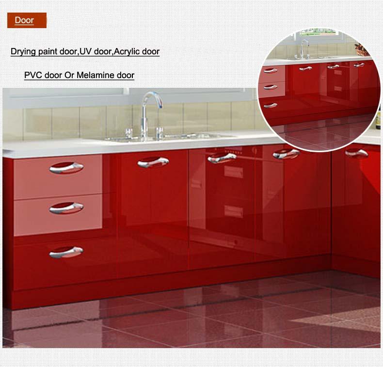 Kenya Fashionable Customized Melamine And Hpl Kitchen: High Gloss Uv Finish Door Modern Kitchen Cabinets