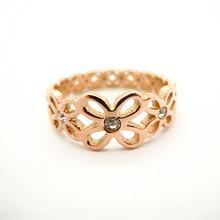 Wholesale ladies gold finger ring for men diamond ring 585