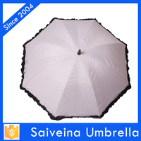 new invention lace white umbrella with fan for parasols gift