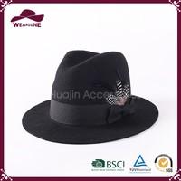 Cheap China wholesale felt hillbilly hat, 100% wool felt hat