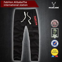 Red Embroidered patch Slim Plus velvet Casual for men emoji jogger pants