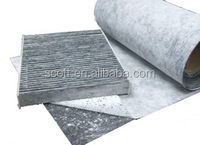 sandwich activated carbon fiber air filter cloth