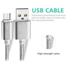 wholesale nylon v8 micro usb retractable extension cable