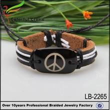 2015 alibaba china wholesale adult size 21cm cheap leather bracelet unisex, plane design leather bracelet