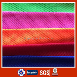 Sportwear 100%polyester quick dry mesh fabric