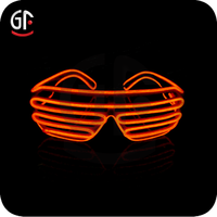 Home Decoration Accessories Hot New Products For 2015 EL Wire Shutter Cheap Wholesale Sunglasses