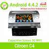 Hight quality Android 4.4 car dvd gps support mirror link/OBD/TPMS for for Citroen C4 auto radio system