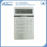 Scientific electroinc solar desktop calculator with aluminium FS-2153