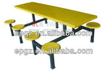 canteen tables and chairs/canteen tables set furniture/4 seats canteen tables