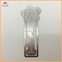 Novelty Double Etching Debossed Bookmarks Stainless Steel Crown Bookmarks