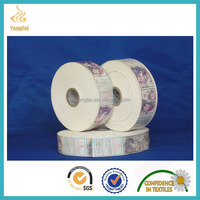 Cheap Garment Ribbon Print 100% Polyester Care Label