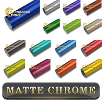 Vehical PVC Vinyl Film Gold Matte Metallic Chrome Wrap car vinyl wrap Air Bubble Free