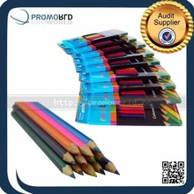 hot selling wood color pencil with custom logo printing