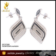 2015 China hot sale DF37389 fashion 925 sterling silver jewelry cheap earring with zircon