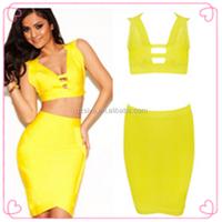 Pictures Semi Formal Dresses Yellow Tea Length Dress