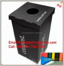Collapsible corrugated recycle plastic bins